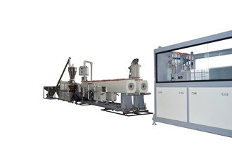 double out PVC pipe extrusion machine