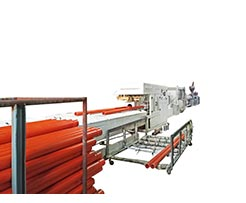 250mm PVC Pipe production line on-site testing