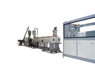 pvc double pipe extruding line