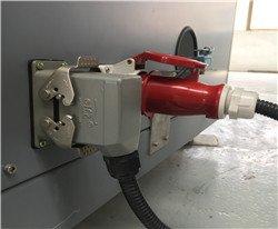 plug on vacuum table