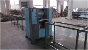 embossing machine for PE-wood profiles