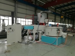 mixer for plastic profile extrusion line