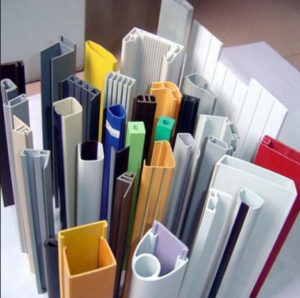 different shape of plastic profiles