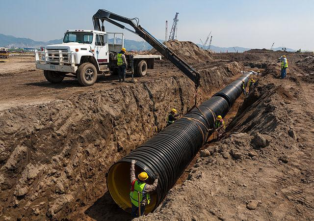 HDPE pipe installation in Mexico