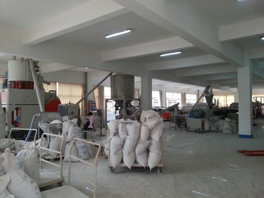warehouse with PVC foam board raw material