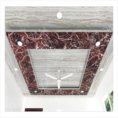 PVC marble sheet used as ceiling