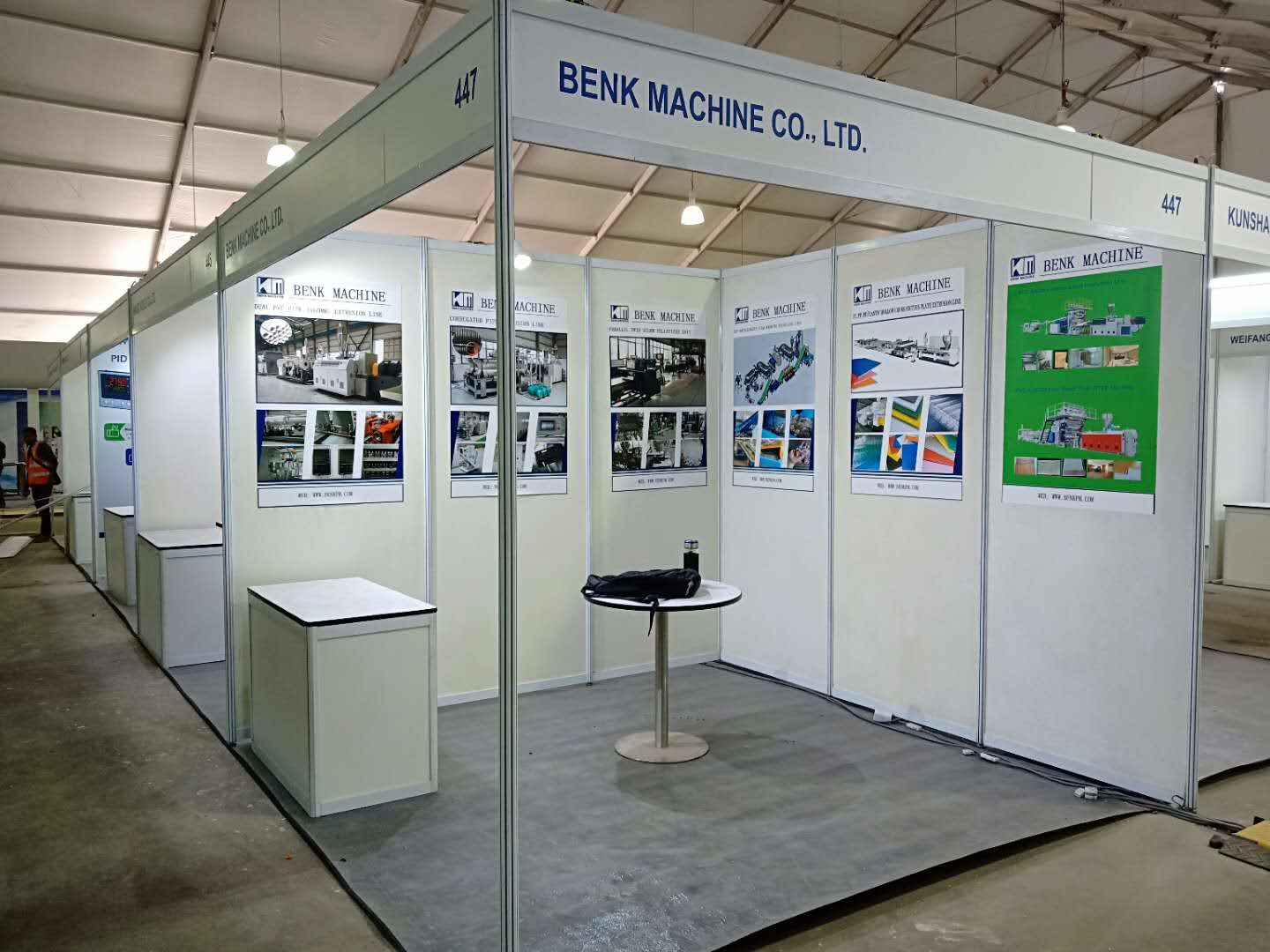 Benk machinery stand number