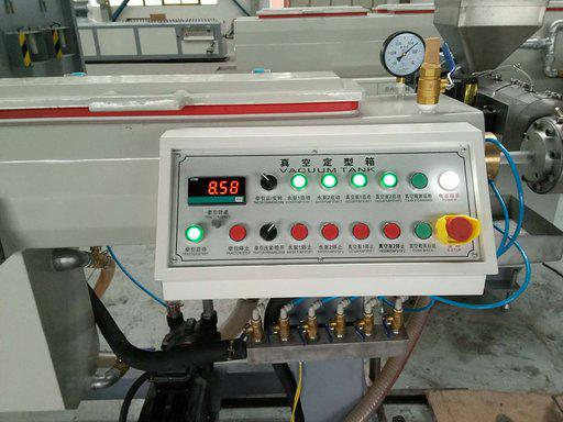 Control panel for vacuum tank