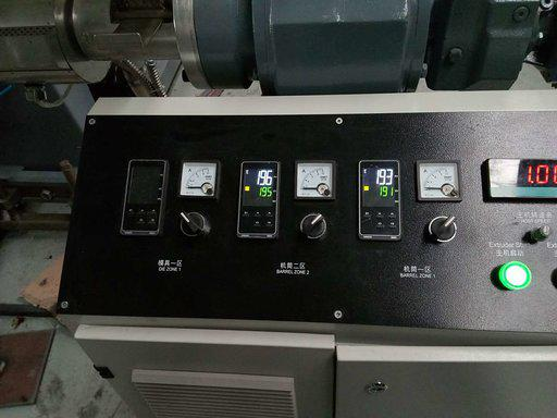 Control panel for PPR pipe extruder