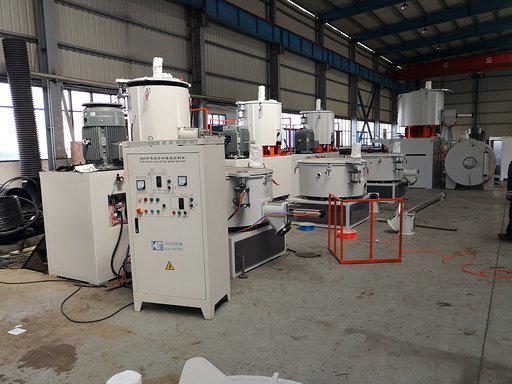 High speed mixers on factory floor
