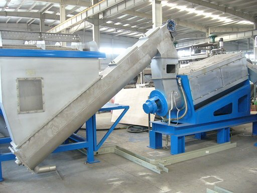 High speed PE film frictional washer in factory
