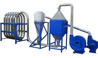 PP PE film flakes thermal drying system