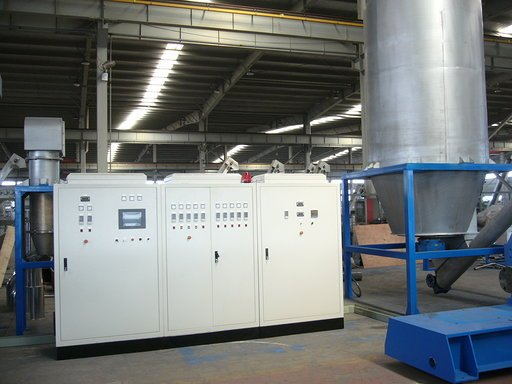 Electrical cabinet and control system plastic recycling line