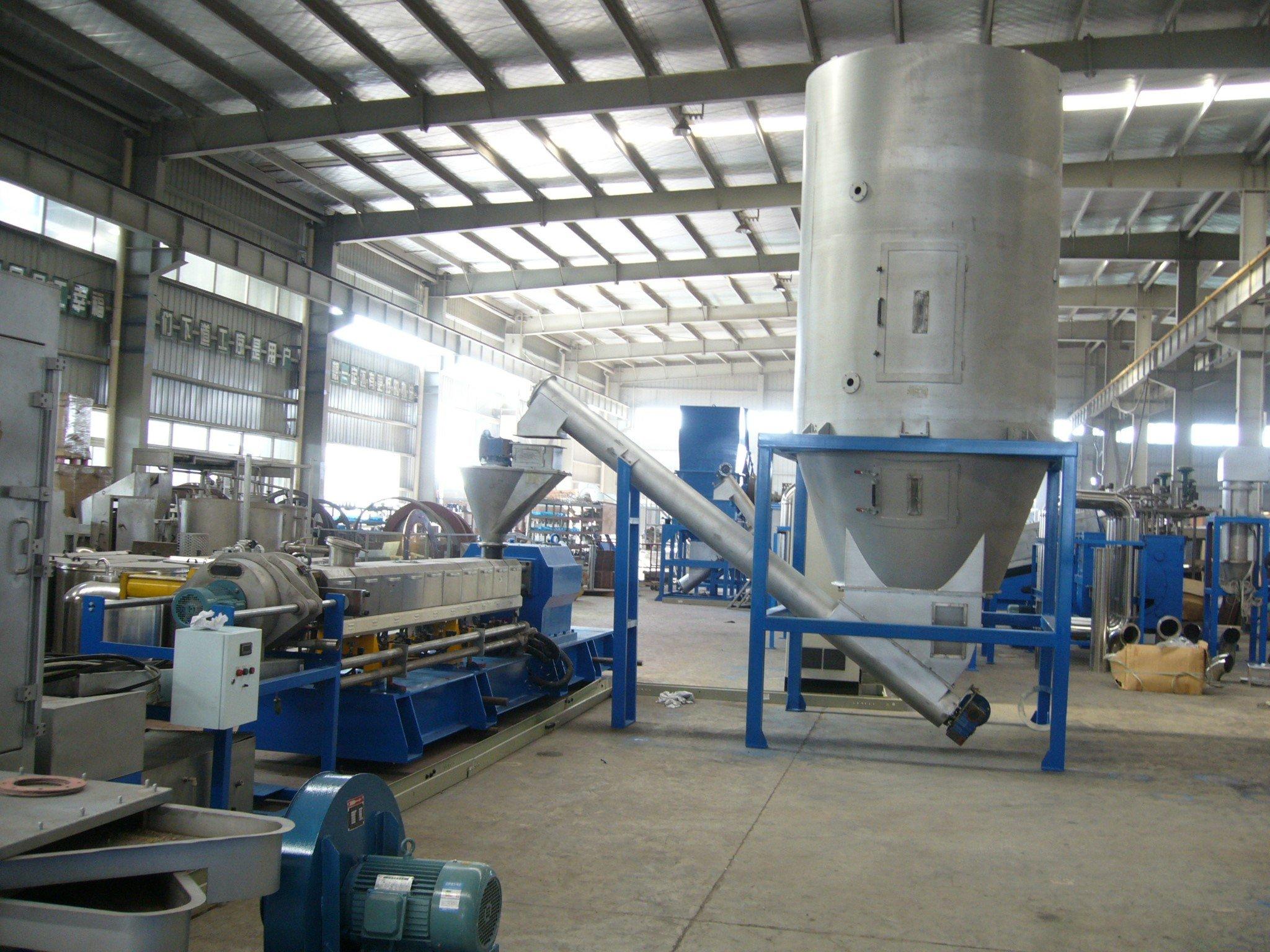 PE PP Film processing line with pelletizing line
