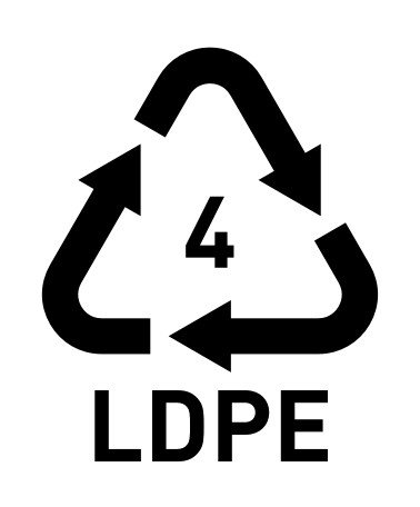PE recycle logo & number