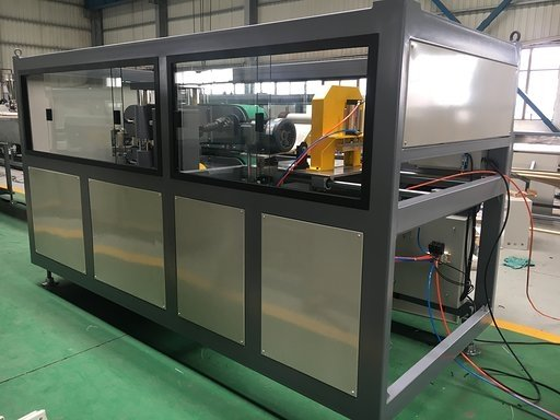 Cutting unit for PS foam extrusion line