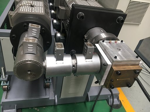 PS photo frame co-extrusion shaping die showing die exit
