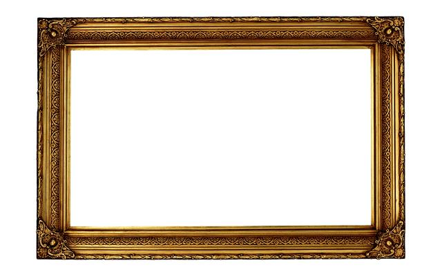 Classical ornate photo frame