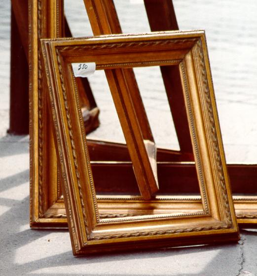 Empty wood frames