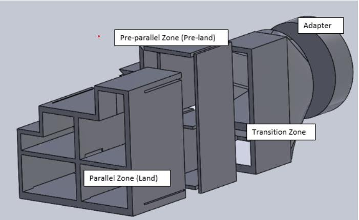 PVC profile extrusion die diagram