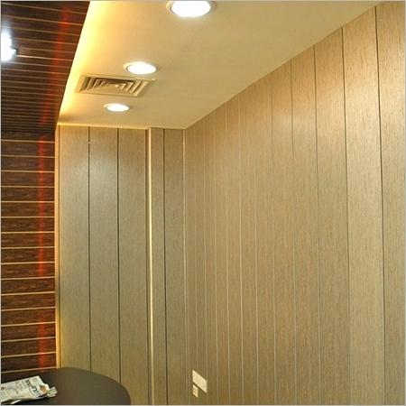 Wood effect created by PVC wall panels