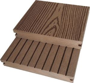 Wood plastic decking produced by the WPC production co-extrusion line